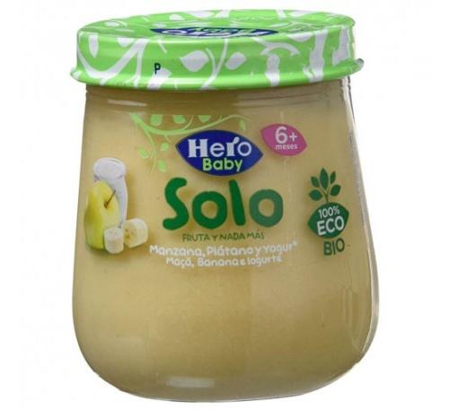 Hero baby solo manzana platano y yogur (120 g)
