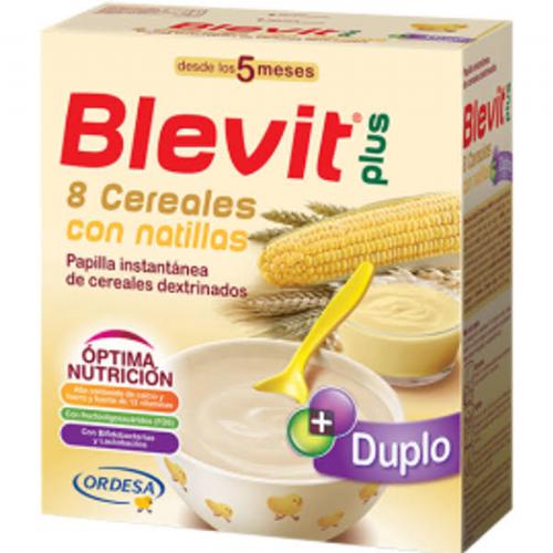 Blevit plus duplo 8 cereales con natillas (600 g)