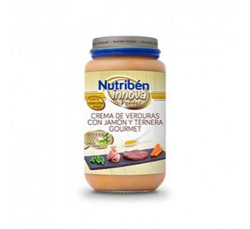 Nutriben innova crema de verduras - con jamon y ternera gourmet (235 g)
