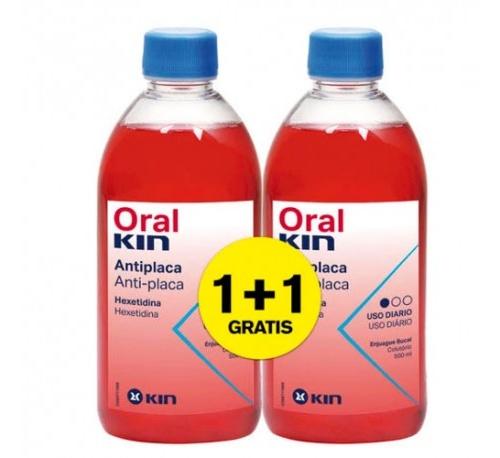 Oralkin enjuage 500 ml pack 2x1