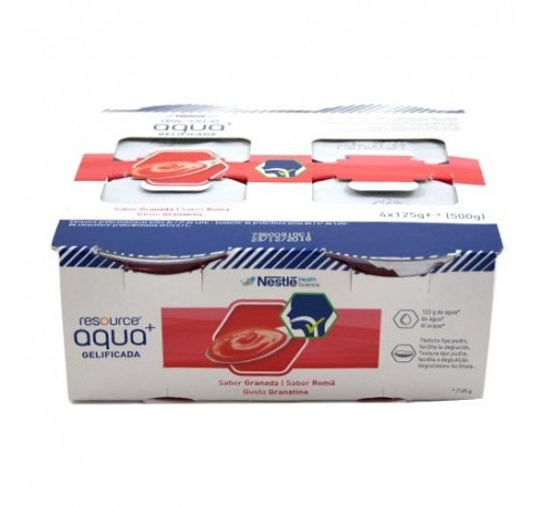 Resource aqua + gelificada (125 g  4 tarrinas granada)