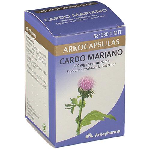 CARDO MARIANO ARKOPHARMA CÁPSULAS DURAS. , 100 cápsulas