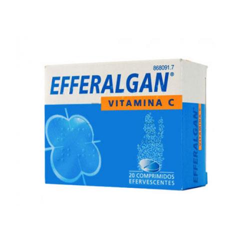 EFFERALDOL CON VITAMINA C 330MG/200MG COMPRIMIDOS EFERVESCENTES , 20 comprimidos