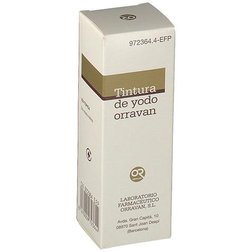 TINTURA DE YODO ORRAVAN 20 MG/ML SOLUCIÓN CUTÁNEA, 1 frasco de 40 ml