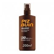 Piz buin allergy spray piel sensible al sol spf 30 - proteccion alta (200 ml)