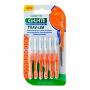 Cepillo interdental viaje - gum 1412 trav-ler (ultrafino 0.9 mm cilindrico 6u)