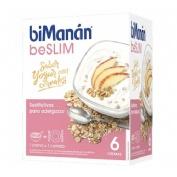 Bimanan beslim sustitutivo crema yogur con cereales (312 g 6 sobres x 52 g)