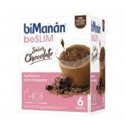 Bimanan beslim sustitutivo batido (chocolate 6 sobres x 50 g)