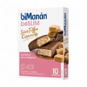 Bimanan beslim sustitutivo barritas (toffee caramelo 310 g 10 u x 31 g)