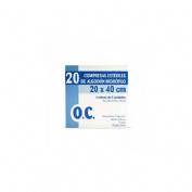 Gasa esteril algodon hidrofilo compresas - oc 17 hilos (20 cm x 40 cm 20 u)