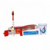 Buccotherm kit infantil 2-6 años gel dentrifico - + cepillo + vasito enjuague (50 ml)