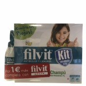 Filvit kit tratamento total + spray hogar+ gorro + peine + champu (kit 100 ml + 100 ml)