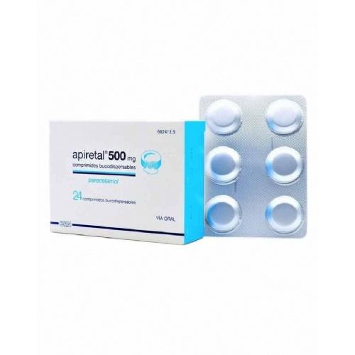 APIRETAL 500 mg COMPRIMIDOS BUCODISPERSABLES, 24 comprimidos