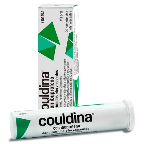 COULDINA CON IBUPROFENO COMPRIMIDOS EFERVESCENTES, 20 comprimidos