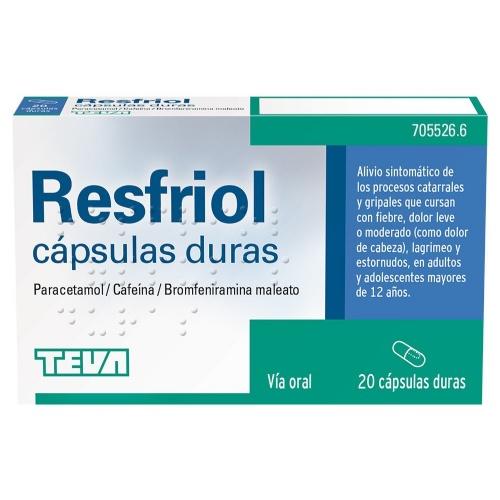 RESFRIOL CAPSULAS DURAS , 20 cápsulas