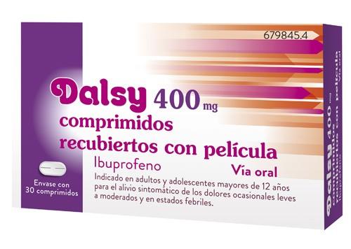 DALSY 400 mg COMPRIMIDOS RECUBIERTOS CON PELICULA, 30 comprimidos