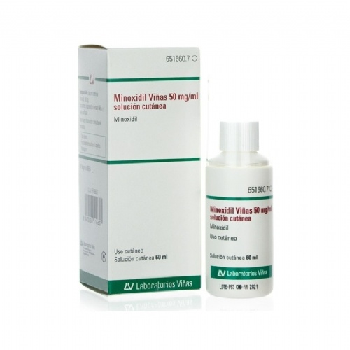MINOXIDIL VIÑAS 50 mg/ml SOLUCION CUTANEA, 1 frasco de 60 ml