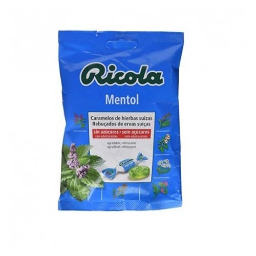Ricola caramelos sin azucar (1 bolsa 70 g sabor mentol)