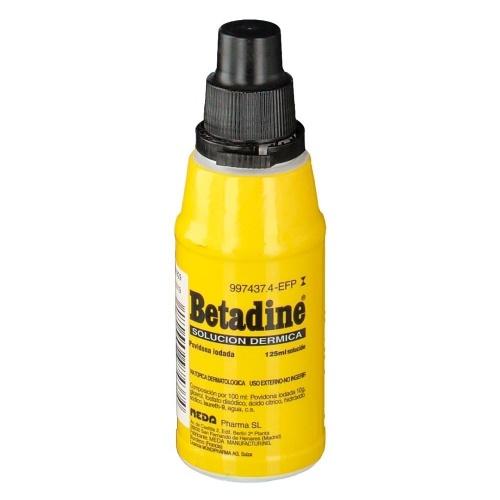 BETADINE 100 MG/ML SOLUCIÓN CUTÁNEA , 1 frasco de 125 ml