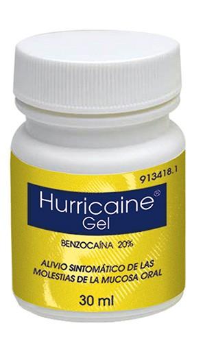 HURRICAINE  200 mg/g GEL BUCAL , 1 frasco de 30 ml