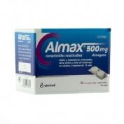 ALMAX 500 mg COMPRIMIDOS MASTICABLES,54 comprimidos