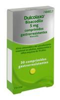 DULCOLAXO BISACODILO 5 mg COMPRIMIDOS GASTRORRESISTENTES, 30 comprimidos