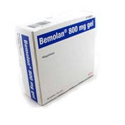 BEMOLAN 800 mg GEL ORAL , 30 sobres