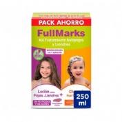 FULLMARKS PACK AHORRO kit antipiojos Loción 100ml + Champú 150ml