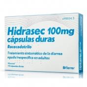 HIDRASEC 100 MG CAPSULAS DURAS , 10 cápsulas