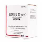 REGAXIDIL 50 mg/ml SOLUCION CUTANEA , 4 frascos de 60 ml