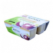 Resource pure de frutas (100 g 4 tarrinas manzana)