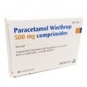 PARACETAMOL WINTHROP 500 mg COMPRIMIDOS , 20 comprimidos