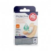 Pic protective con bactericida - aposito adhesivo (surtido  20 u)